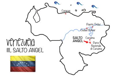 Mappa Venezuela