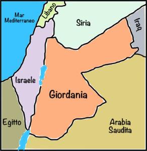 Mappa Giordania